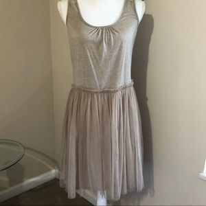 Anthropologie lace tulle dress NWT Size Large